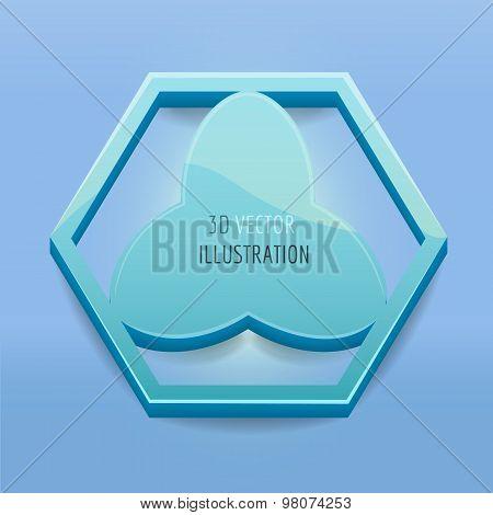 3D vector hexagon