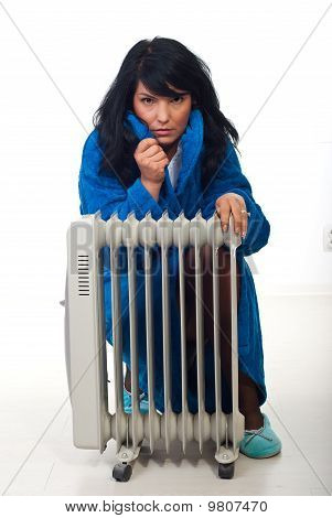 Woman Shivering  In House