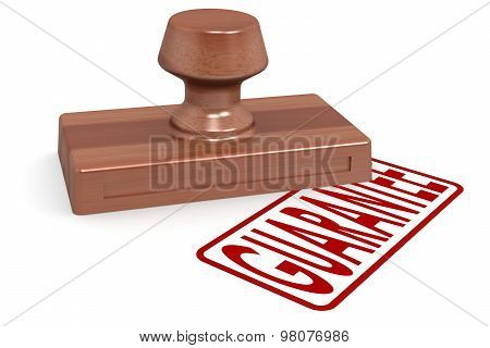 Wooden Stamp Censored With Red Text