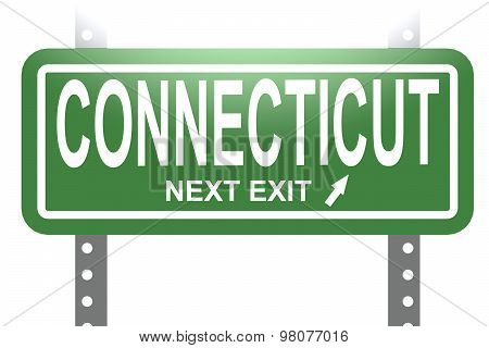 Connecticut Green Sign Board Isolated