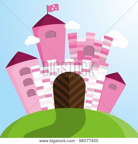 Vector Pink Castle