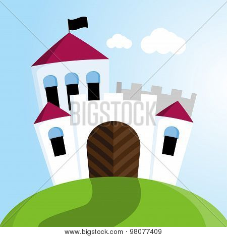 Castle With Black Flags