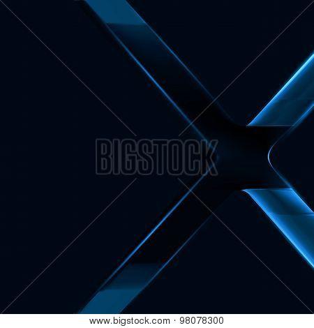 Dark Blue Lighting Cross Background