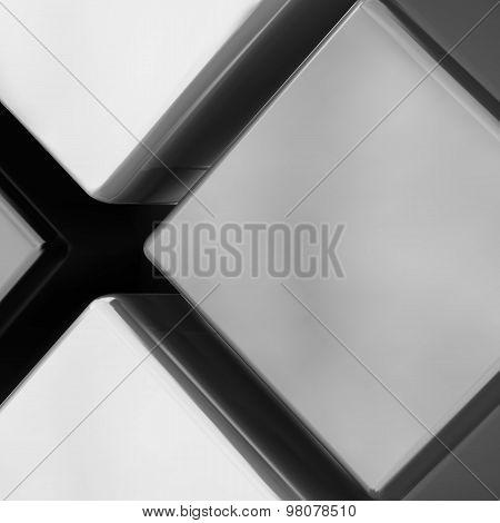 Grey Color Square Components Abstract Background