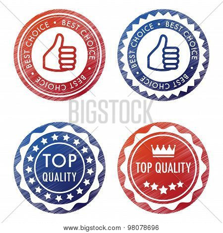 Four Vector Stamps