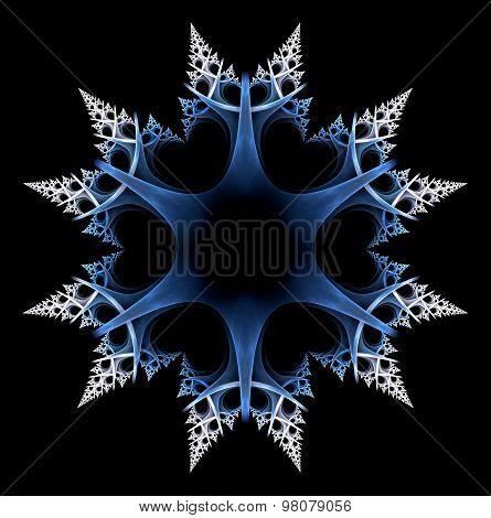 Snowflake isolated over black