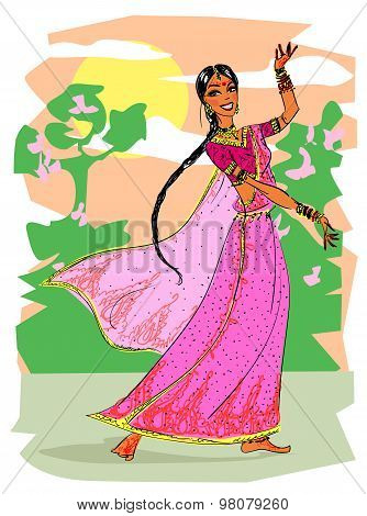 Indian woman dancing