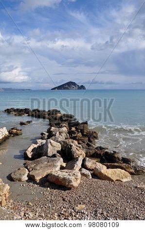 Ionian Sea And Blue Sky Horizon