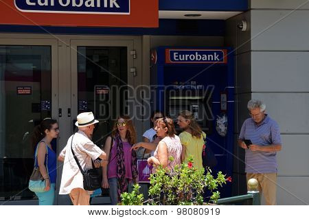 Tourist Atm Machine Greece