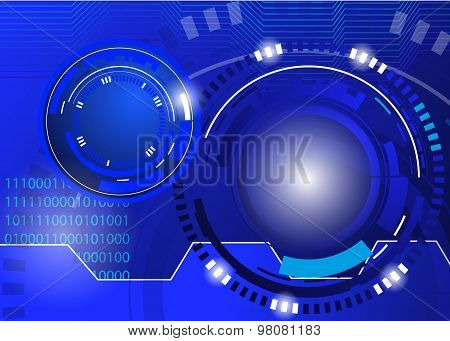 circle blue abstract techno background