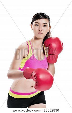 Vietnamese female boxer