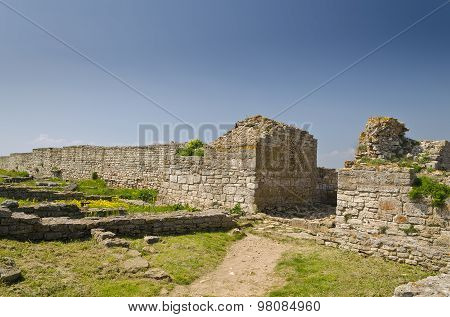 Remains Of The Medieval Fortress On Cape Kaliakra, Bulgaria