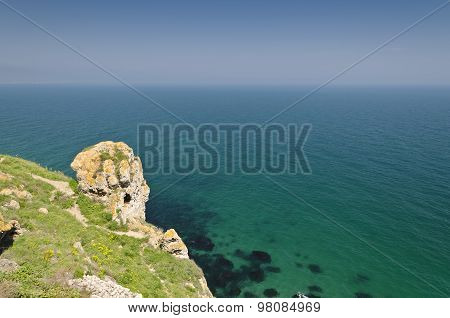 Bulgaria, Black Sea. Coastal Landscape. Kaliakra Headland