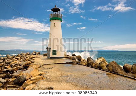 Santa Cruz Breakwater Lighthouse in Santa Cruz, California