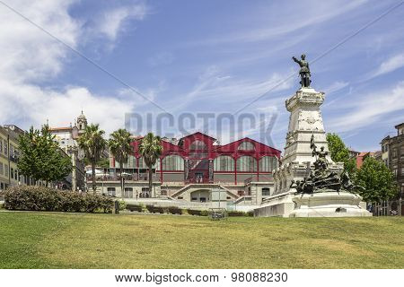 Porto, Portugal - July 04, 2015: Ferreira Borges Market, An Emblematic Landmark Of Iron Architecture