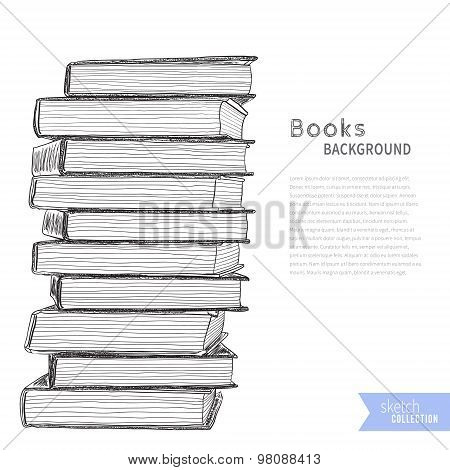 Books sketch background