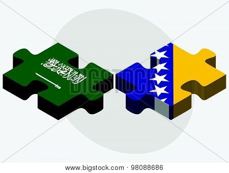 Saudi Arabia And Bosnia And Herzegovina Flags