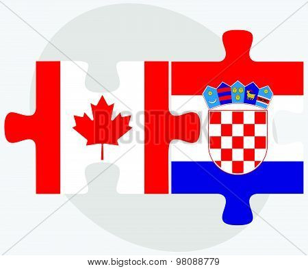 Canada And Croatia Flags