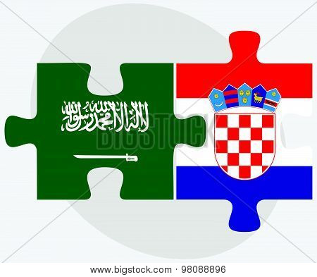 Saudi Arabia And Croatia Flags