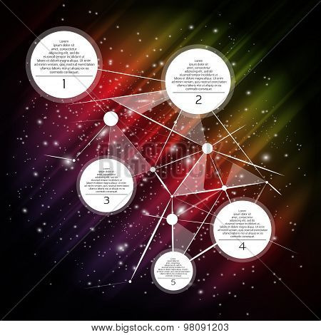 Vector space infographic