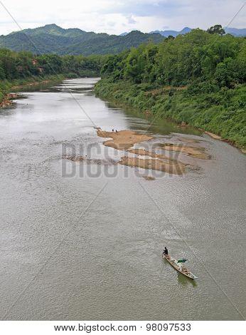 Khan river nearly Luang Prabang