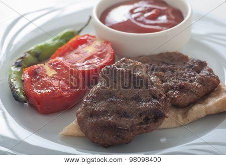 Turkish Grilled Meat Balls - Kasap Kofte
