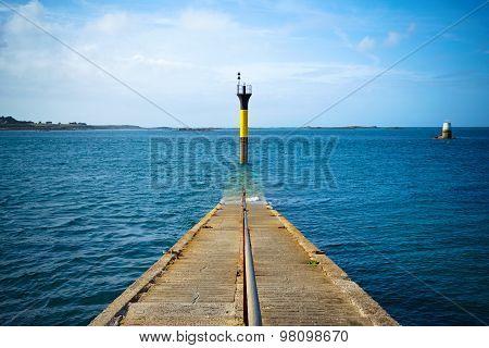 Road into the sea