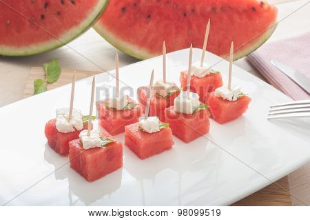 Water Melon And Cheese