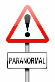 picture of paranormal  - Illustration depicting a sign with a paranormal concept - JPG