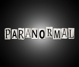picture of paranormal  - Illustration depicting a set of cut out printed letters arranged to form the word paranormal - JPG