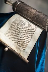 image of torah  - ancient sacred the unwrapped Torah scroll silver - JPG