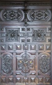 stock photo of torino  - Traditional old door from Torino in Italy - JPG