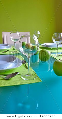 Trendy dining table