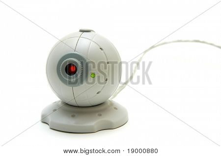 Webcam on white background
