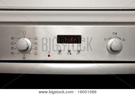 Modern oven - front details