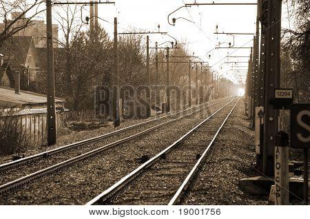 Sephia railway view
