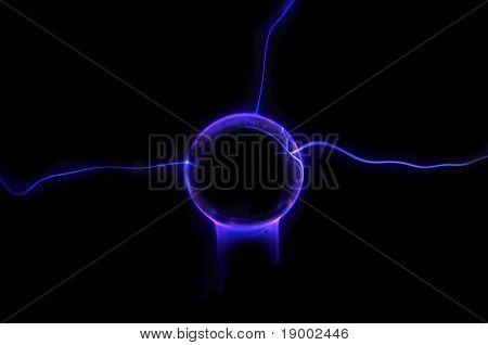 Bola de plasma com raios elétricos
