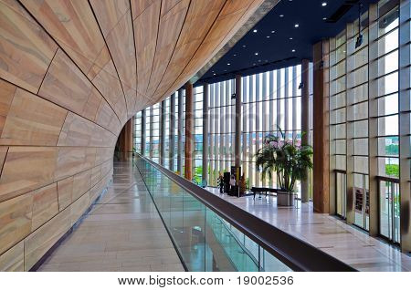 Modernistic interior design - culture centre