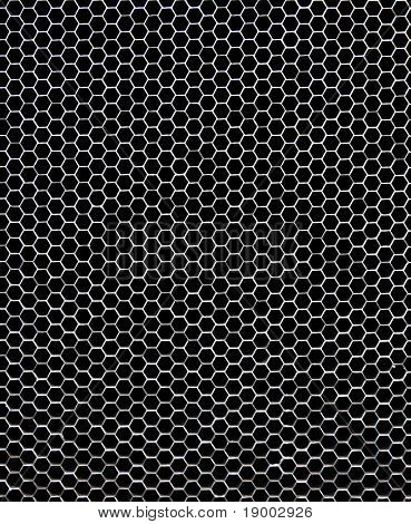 Hexagonal metallic structure - Honeycomb concept