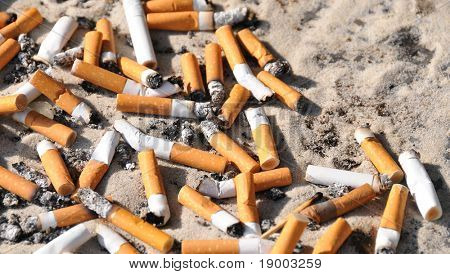 Cigarette ends - trash
