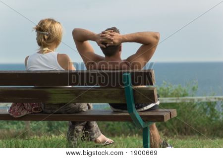 Couple With Relaxing View