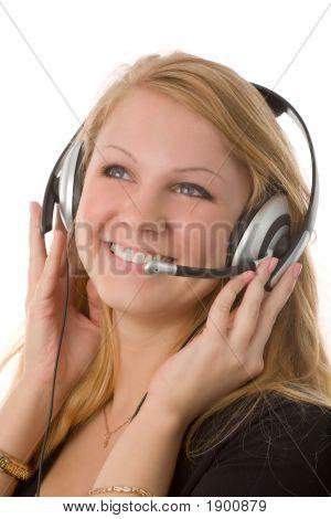Mujer con auriculares