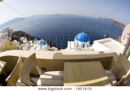 View Over Greek Island Churches