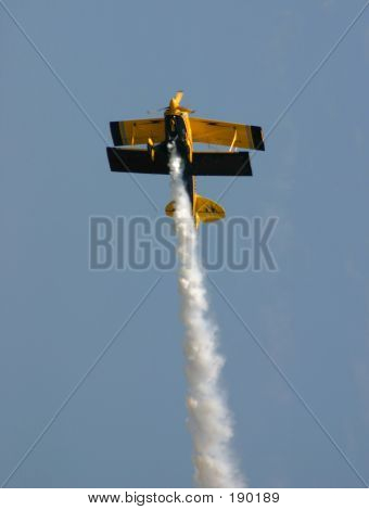 Biplane Reaching For The Sky