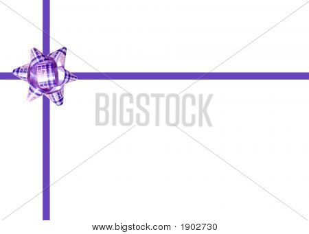 Celebration Bow Isolated On White Background