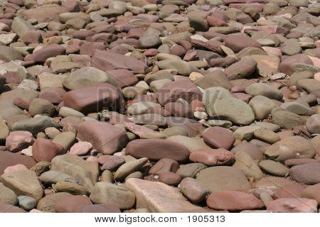 Rocks On Shoreline In Nova Scotia