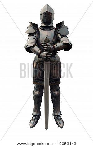 Cavaleiro Medieval do século XV com espada