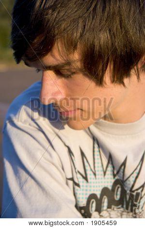 Profile Portrait Of Teen Boy