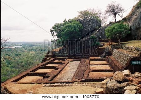 Architectural Dispaly Of Sigiriya Rock Fortress