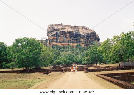 Panoramic View Of Sigiriya In Sri Lanka